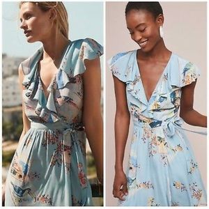 NWT Maeve for Anthropologie Rosalia Wrap Dress